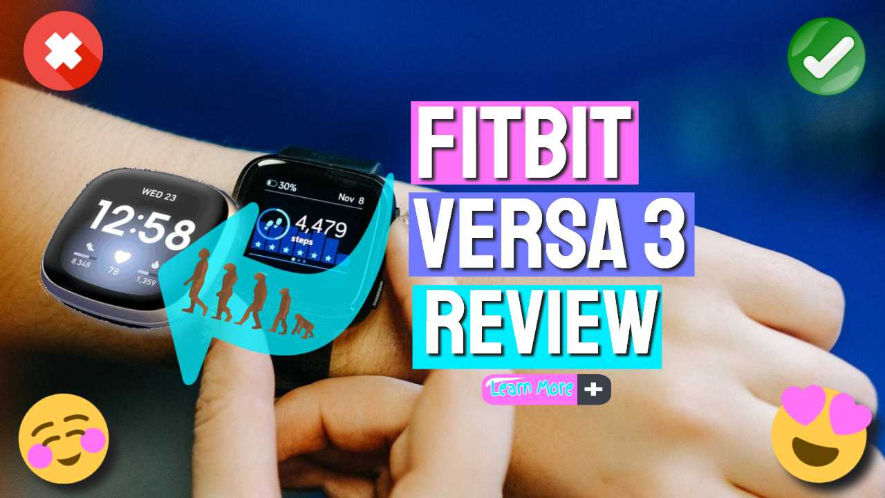 """Image text: """"Fitbit Versa 3 Review""""."""