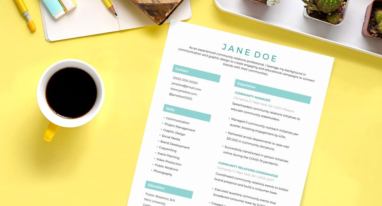 mom-resume-template